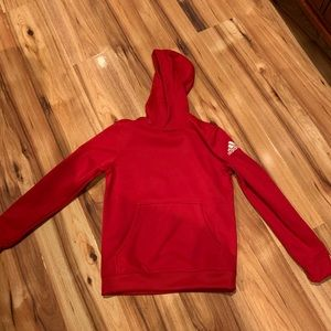 """Adidas"" boys  hoodie pull over red size M"